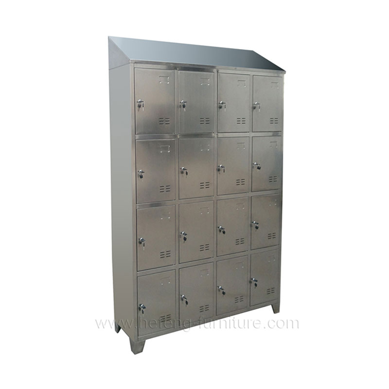 16 door stainless steel lockers