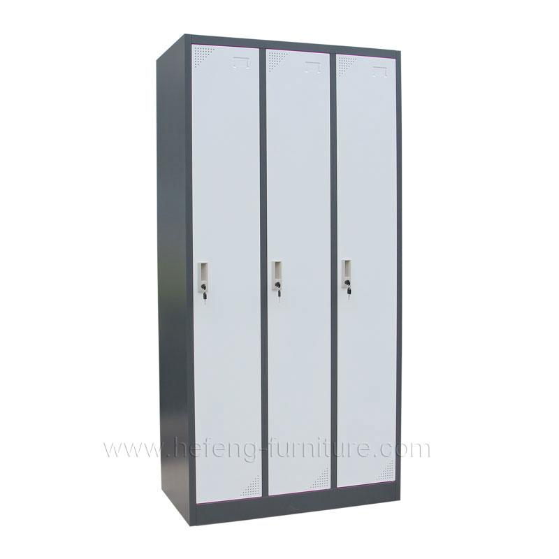 3 Door Steel Clothing Lockers Luoyang Hefeng Furniture
