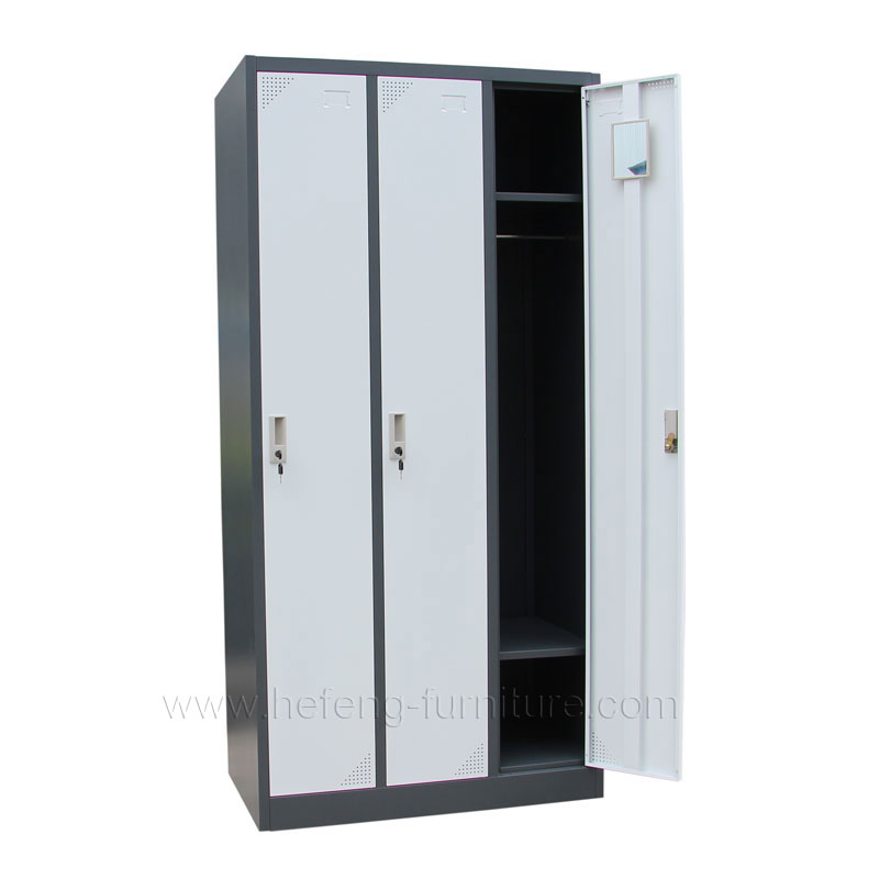 3 door steel clothing lockers luoyang hefeng furniture for Locker loop dress shirt