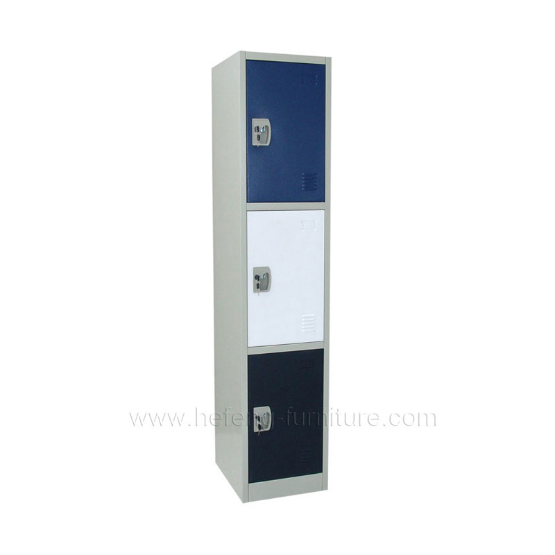 3 tier metal personal lockers