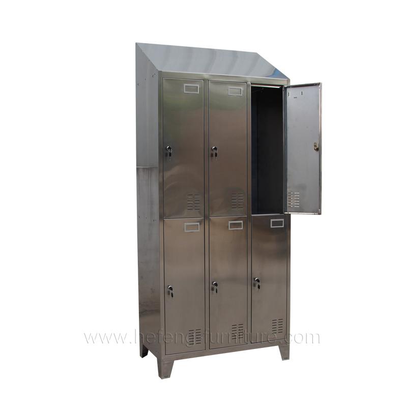Stainless Steel Locker 6 Door Luoyang Hefeng Furniture