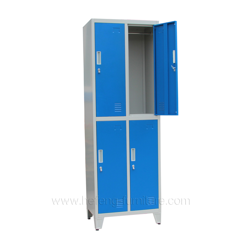 4 Door Metal Commercial Lockers Luoyang Hefeng Furniture