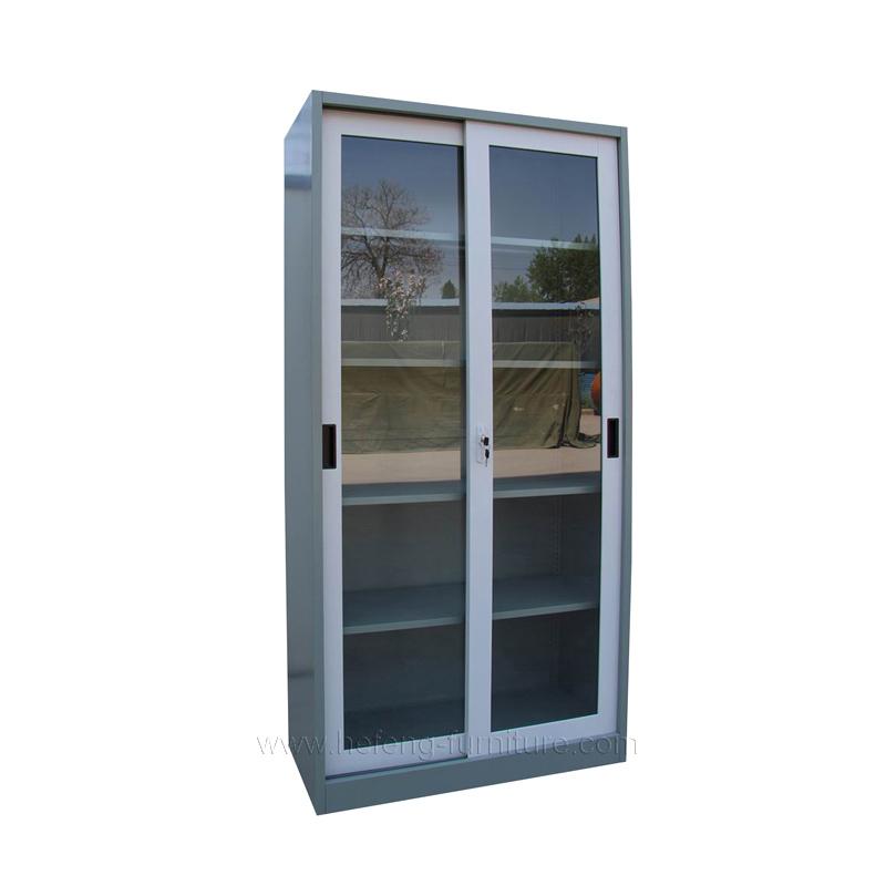 Glass Door Metal Office Storage Cabinet