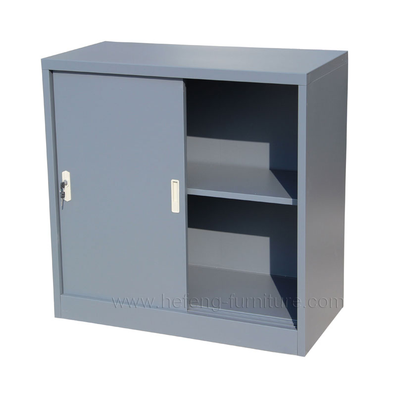 Steel Sliding Door File Cabinet Small