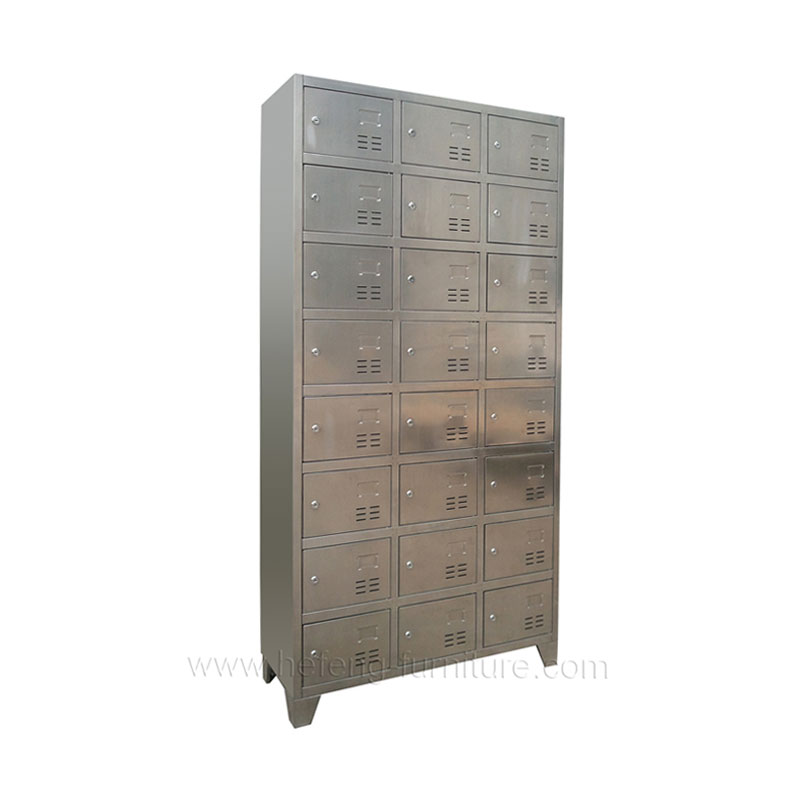Stainless steel wardrobe 24 door