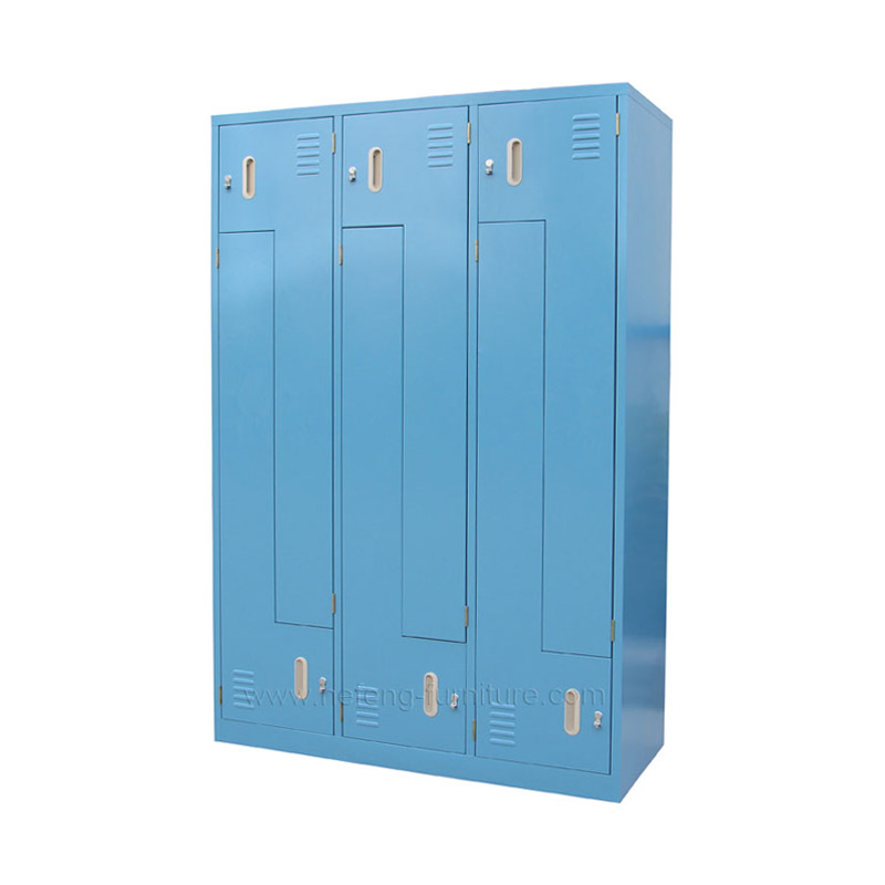 Z shape 6 door lockers