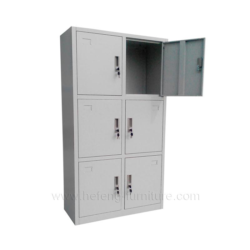 ... six door lockers  sc 1 st  Luoyang Hefeng Furniture & 6 Door Personnel Lockers - Luoyang Hefeng Furniture