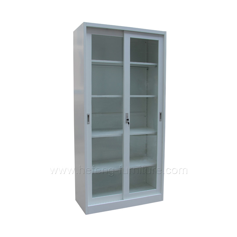 sliding cabinet with glass door