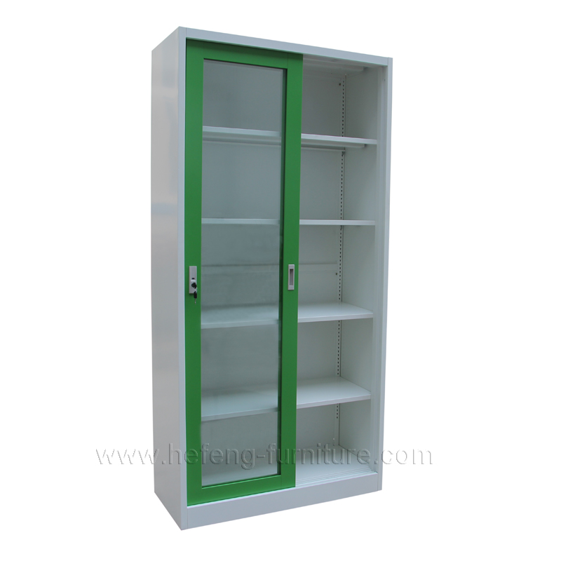 Exceptionnel ... Two Tone Sliding Glass Door Cabinet