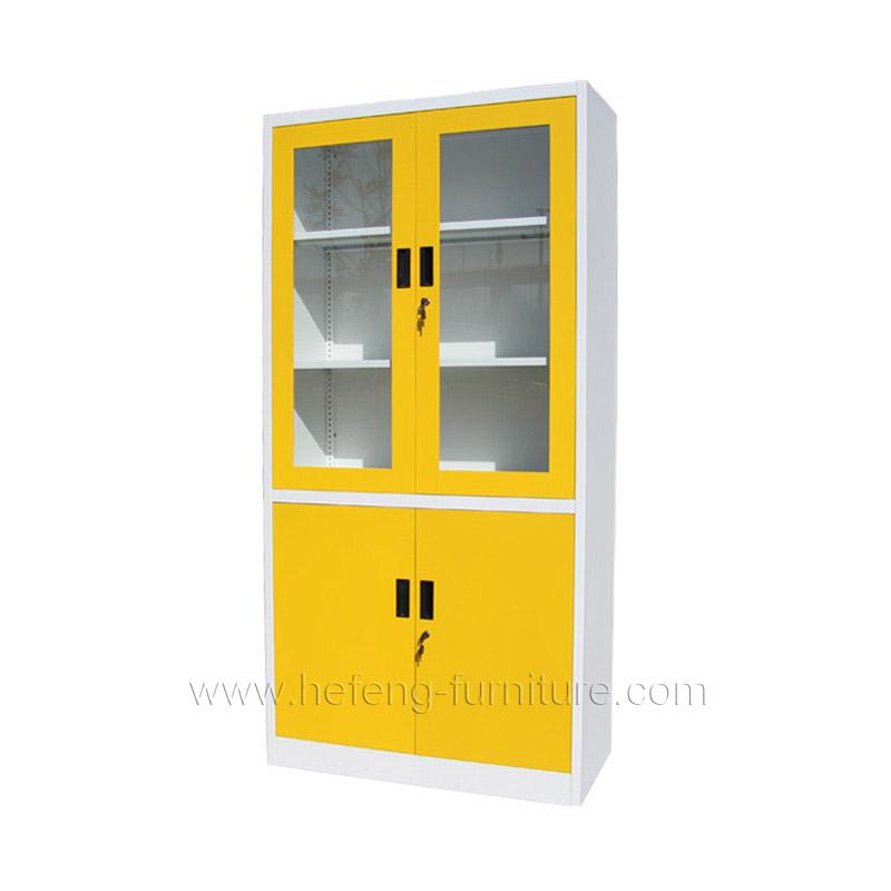 Yellow Metal File Cabinet
