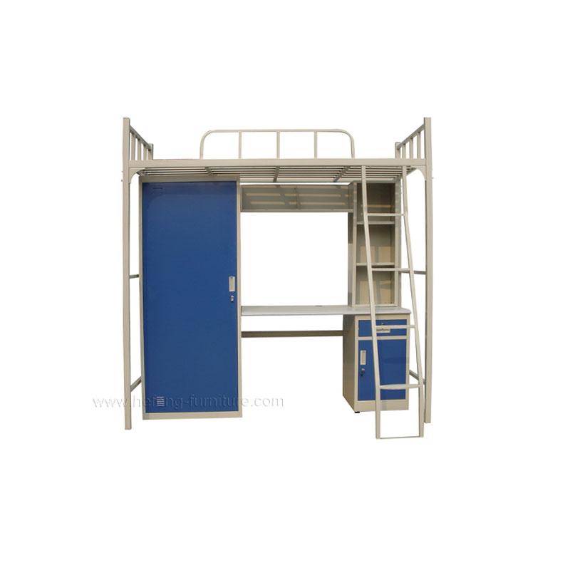 Metal cabinet bed