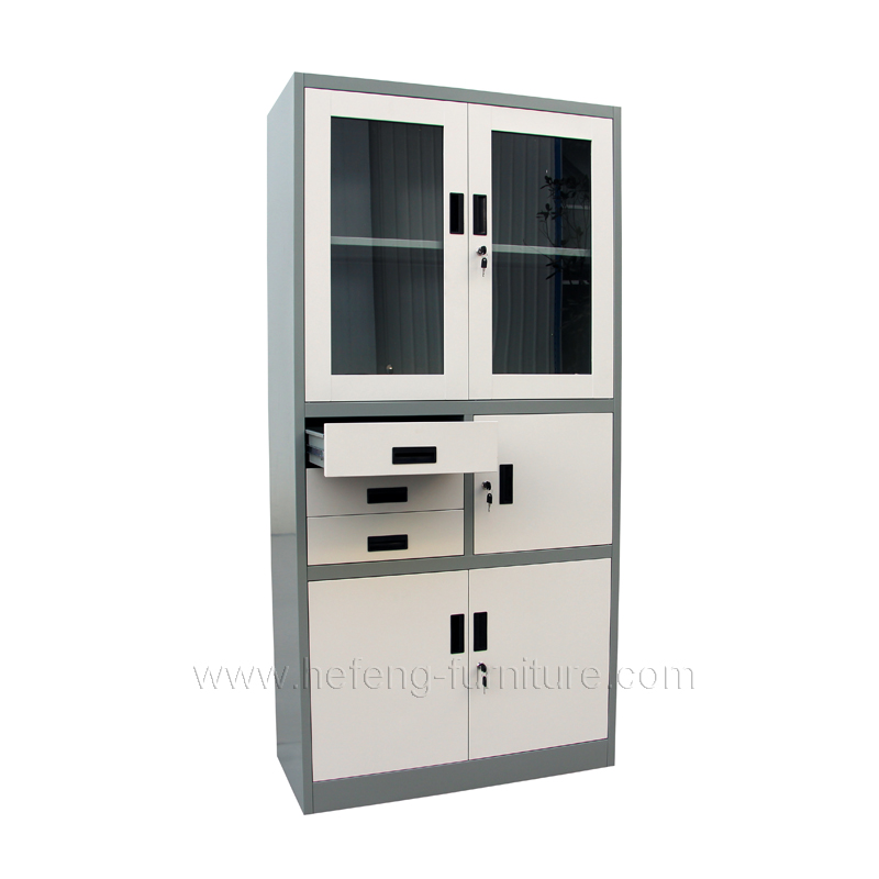 Glass Door Cabinet With Drawers Luoyang Hefeng Furniture
